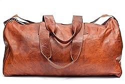 Barello Hemingway Echt Leder Duffle Bag Wochenend Tasche Große Reisetasche Leder Unisex Braun Duffle Bag