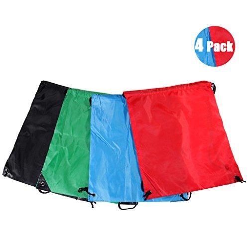 Imagen de dogeek 4 piezas oxford  saco, plegable impermeable bolsas de cuerdas de deporte funda de tela personalizada nailon cordón  cordón