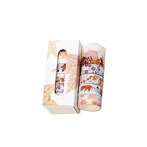 dragonaur 5 Rollen 300 cm Blumenblätter Print Washi Tape Set Niedliche Schreibwaren Geschenk Scrapbook Papier Band Album Dekoration, 1 (Billig Scrapbook Lieferungen)