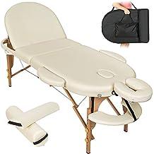 TecTake 400193 - Camilla de masaje profesional, color beige