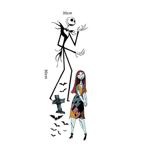 LANDFOX Wandaufkleber Geist Zombie Liebe Halloween Persönlichkeit Fenster Dekoration Horror Wandaufkleber Halloween Hexe Hintergrund Dekoriert Wohnzimmer Schlafzimmer