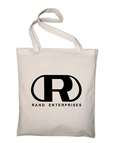 Rand Enterprises Logo Fanshirt Fan Jute Jutebeutel, Beutel, Stoffbeutel, Baumwolltasche Natur