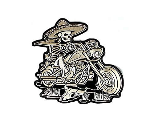 KUSTOM FACTORY Patch Skull Biker Bandiera Mess
