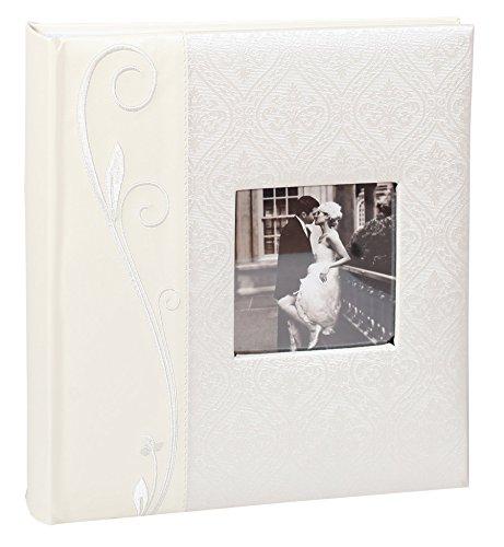 Wedding Line Fotoalbum in 29x32 cm 64 weiße Seiten Hochzeit Foto Album: Farbe: Weiß