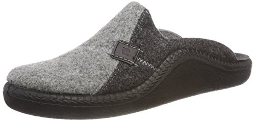 Romika Herren Mokasso 302 Pantoffeln, Grau (Hellgrau-Kombi 721), 44 EU