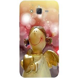 Casotec Angel Design Hard Back Case Cover for Samsung Galaxy J7
