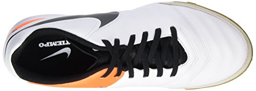 Nike Herren Tiempox Genio Ii Leather Ic Fußballschuhe Blanco (White / Black-Total Orange)