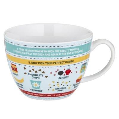 Perfect Porridge Mug' Ceramic Gift Mug with Recipe & Ingredient Levels, 400ml