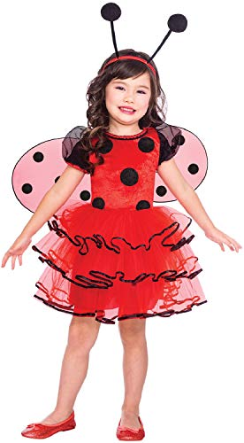 Fancy Me Mädchen Kleinkind Marienkäfer Tier Insekt Mini Beast Marienkäfer Weltbuch Tag Woche Karneval Kostüm ()