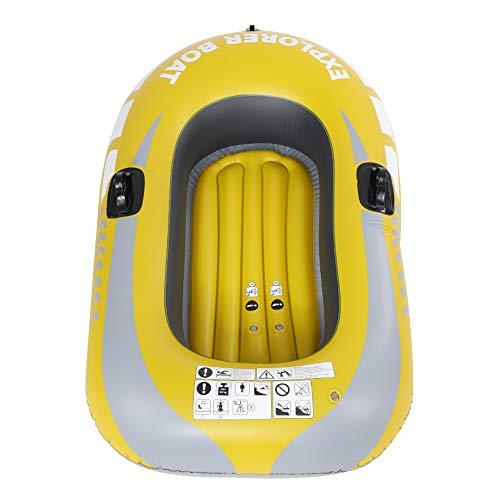VGEBY1 Luftboot, 1 Person PVC Aufblasbares Kajak Kanu Rudern Luftboot zum Angeln, Treiben & Tauchen Schlauchboot