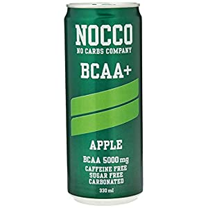 41dx4aC uML. SS300  - NOCCO BCAA+ Apple | 24 x 330ml | Zero Sugar | Functional Energy Drink | No Carbs Company | Vitamin Enhanced Zero Caffeine | Flavoured Functional Drinks for Health, Fitness & Everyday