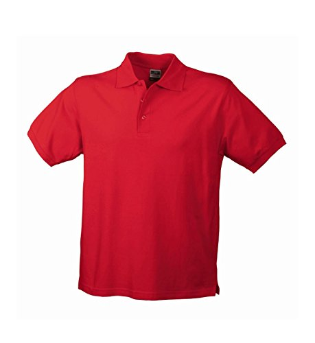 Herren Poloshirt Klassisches Polohemd mit Armbündchen Sport kurzarm Polo Shirts in verschiedene Farben Red