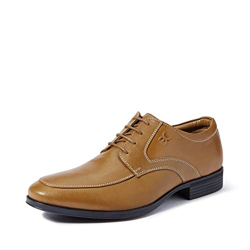 Extacy By Red Chief EXT119 Men's Tan Formal Leather Shoes -9 UK/India (43 EU)(RFC-00600609)