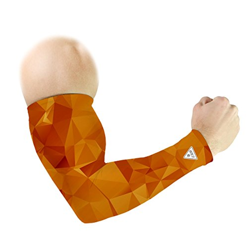 Le Gear Orgami Polygon Arm Sleeves (Orange, Free Size)