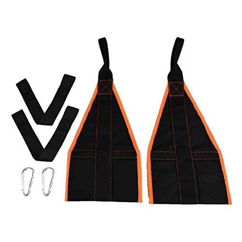 VORCOOL Armschlaufen mit Karabiner für Bauchtraining Bauchmuskeln Klimmzugstange Gewichtheben (Orange Rim)