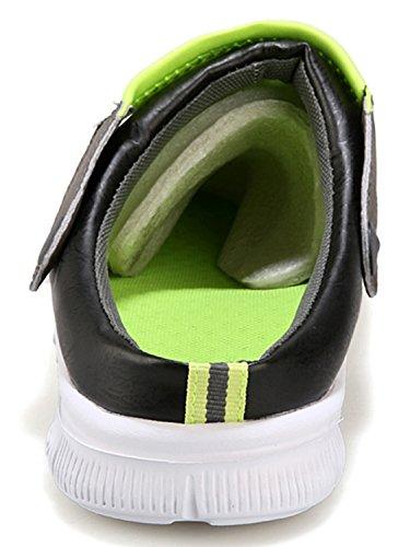 Sandálias Adulto Chinelos Mulas Entope Malha Chinelos Antiderrapantes Unisex De Cerceta Respirável Homens Preto Sapatilhas a6qR4