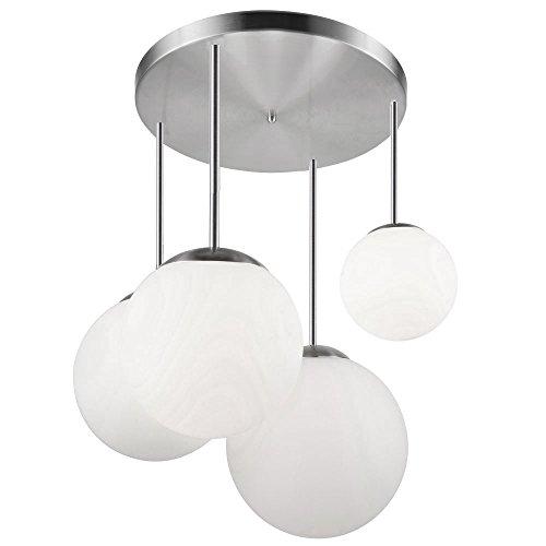 Glas Kugel Leuchte (Luxus Decken Leuchte Wohn Ess Zimmer Beleuchtung Glas Kugel Lampe satiniert Globo 1581-4D)