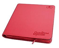 Ultimate Guard UGD010468 - 12 Pocket QuadRow ZipFolio XenoSkin, rot