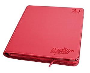 Ultimate Guard 12-Pocket QuadRow ZipFolio XenoSkin Rojo