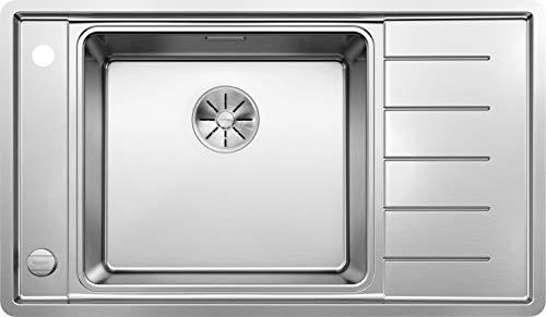Blanco Andano XL 6 S-IF Compact, Küchenspüle, Becken links, mit Multifunktionsschale, InFino-Ablaufsystem und Ablauffernbedienung, Edelstahl Seidenglanz; 523002