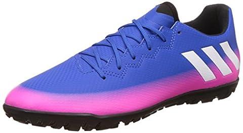 adidas Messi 16.3 TF, Chaussures de Football Compétition Homme, Multicolore (Blue/Ftwr White/Solar Orange), 44 2/3 EU