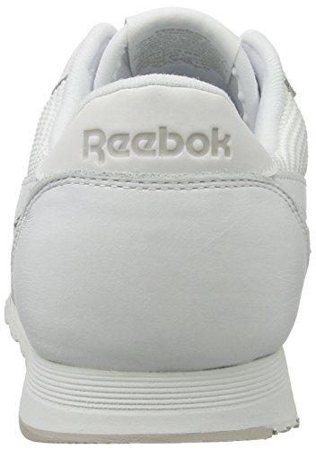 Reebok Classic Nylon Tech Mix, Sneakers Basses Homme Blanc (White/ Steel/ Silver)