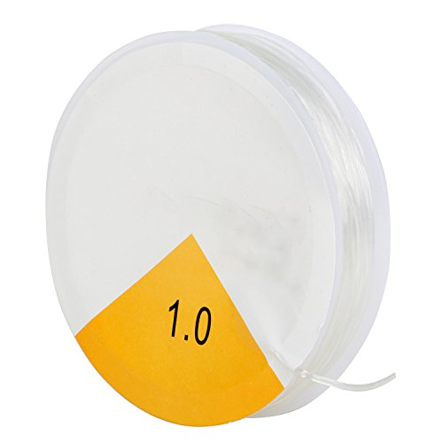 TRIXES 8 m Bobina di Filo Trasparente da 1 mm - Elastica - Filo Elastico per Bracciali - Filo Elasticizzato per Perline, Gioielli, Lavori Artigianali