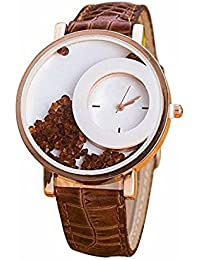 Meclow White Dial Brown Leather Strap Watch