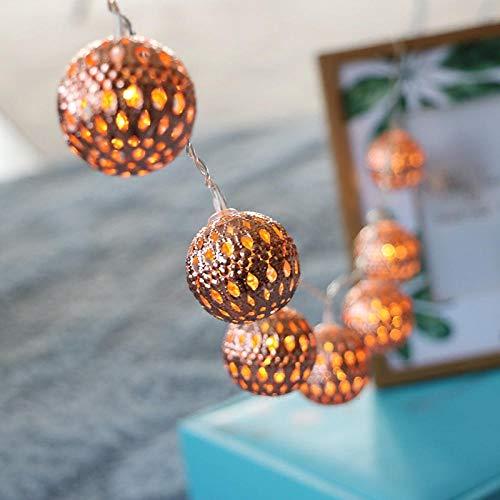 Gyyl Balón marroquí 3m20LED Guirnaldas luminosas de exterior Luces Navidad USB y...