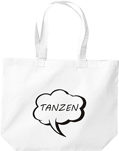 Grande Shopping Bag Di Shirtstown, Palloncino Shopper Che Balla Bianco