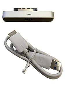 'Seagate FreeAgent GoFlex Adaptateur USB 3.0pour disque dur externe 2,5disque dur Seagate Back Up (Solid State Disque dur)–avec câble USB 3.0–stae109-black-silver