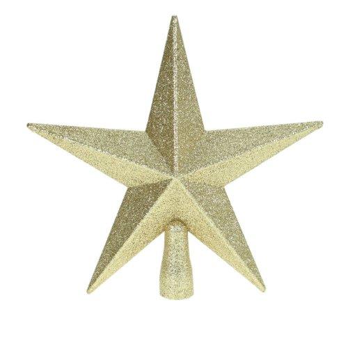 Premier - puntale per albero di natale a forma di stella glitter, 20 cm, colore: oro