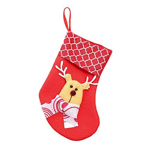 Zedo Halloween Süßigkeiten Taschen Weihnachtsstrumpf Süßigkeits Tasche Süßigkeiten Geschenke Schmuck für Kinder Kostüm Party Dekoration