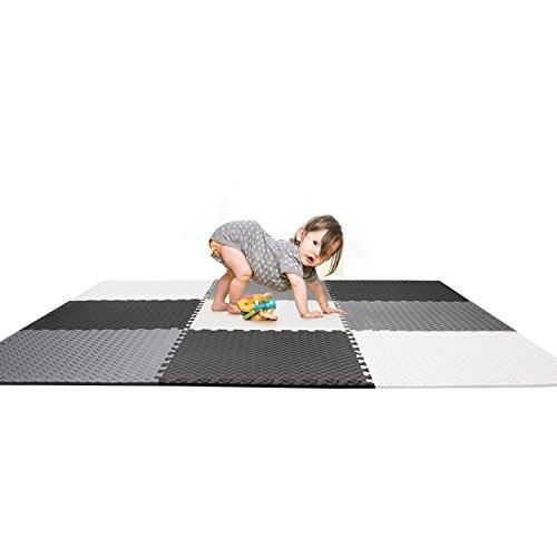 Smibie Alfombra Puzzle Infantil de Goma EVA 9 PCS 60CM*60CM Desmontables Manta...