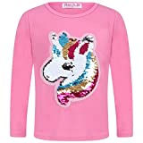 Aelstores Sudadera para niñas con diseño de Unicornio y Lentejuelas, para niños de 3 a 14 años Rosa Rosa 3-4 Años