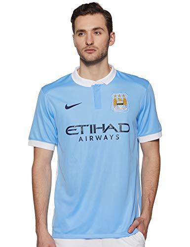 Nike 1. Trikot Manchester City 2015/2016-Offizielle Trikot Herren XXL blau/weiß/schwarz (Field Blue/Football White/Obsidian) -
