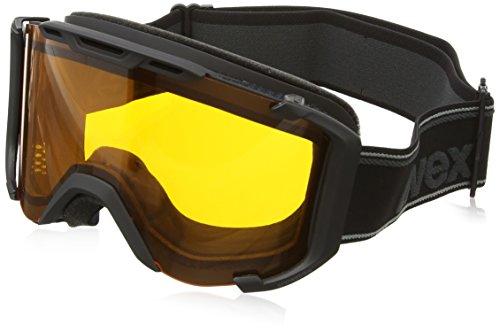 Uvex snowstrike LGL Skibrille, Black Mat, One Size