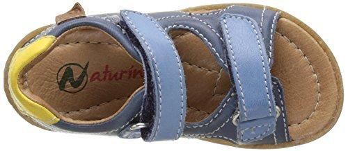 Naturino Sky, Sandales Bout Ouvert Mixte Enfant Bleu (Navy/Giallo/Jeans)