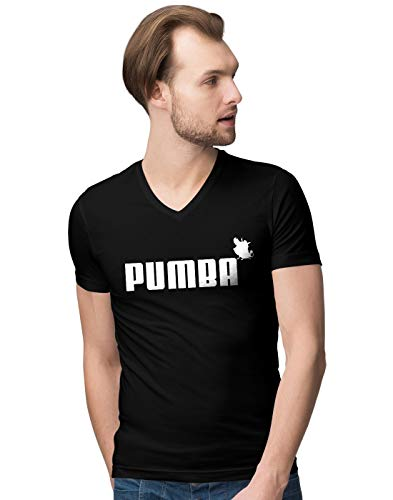Pumba Lion and The King Herren V-Neck T-Shirt XXL