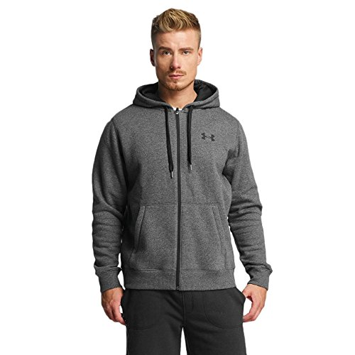 Under Armour Ua Rival Cotton Full Zip 1302290-090, Sudadera para Hombre, Gris (True Gray Heather), L