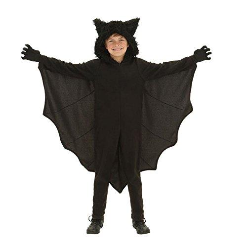 Meijunter Halloween Cosplay Bat Overall Kostüme mit Handschuhen für Kinder Jungen Mädchen L