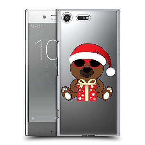 Head Case Designs Offizielle PLdesign Santa BAER Mit Sonnenbrillen Weihnachten Harte Rueckseiten Huelle kompatibel mit Sony Xperia XZ Premium