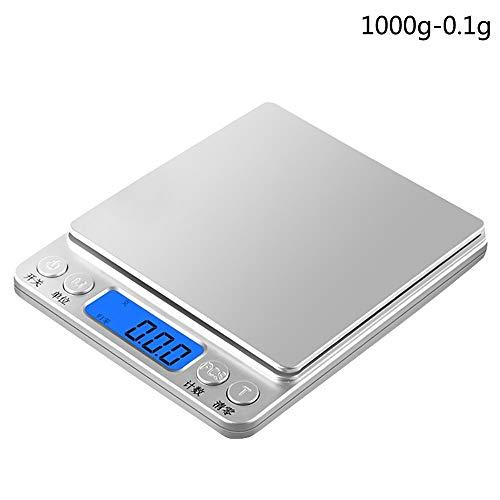 Rzrcj bilance da cucina 10kg / 15kg 1g bilancia digitale di precisione bilancia da cucina elettronica con piattaforma in acciaio inossidabile touch botton, b
