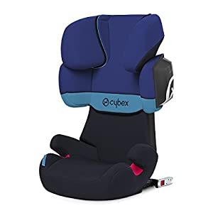 CYBEX Silver Solution X2-Fix Child's Car Seat, For Cars with and without ISOFIX, Group 2/3 (15-36 kg), From approx. 3 to approx. 12 years, Blue Moon Red Kite Suitable from birth Easy and fast to assemble Padded mattress for a comfy nights sleep 5