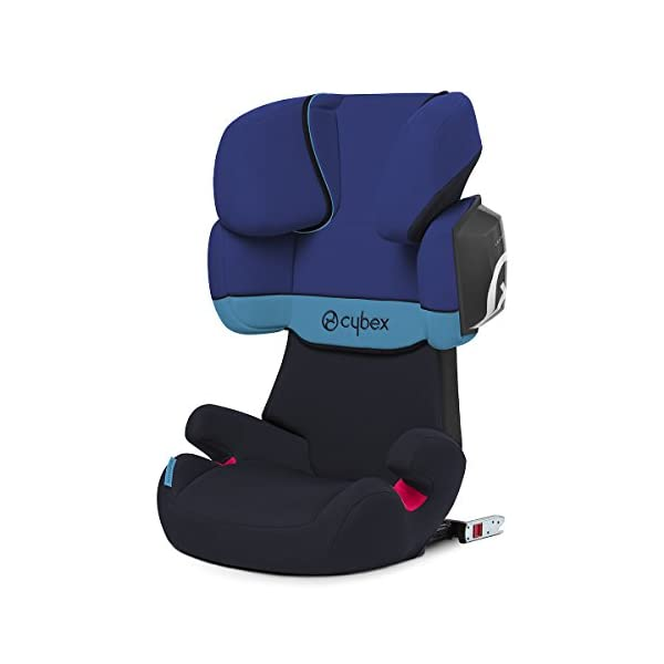 CYBEX Silver Solution X2-Fix Child's Car Seat, For Cars with and without ISOFIX, Group 2/3 (15-36 kg), From approx. 3 to approx. 12 years, Blue Moon  Sturdy and high-quality child car seat for long-term use - For children aged approx. 3 to approx. 12 years (15-36 kg), Suitable for cars with and without ISOFIX Maximum safety - 3-way adjustable reclining headrest, Built-in side impact protection (L.S.P. System) 11-way adjustable, comfortable headrest, Adjustable backrest, Comfortable seat cushion 1