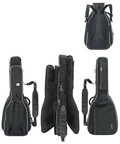 Gewa 4/4 Gitarrentasche in schwarz für 1x E-Bass und 1x E-Gitarre 25mm DOUBLE BAG Prestige 25 Line für 2 Gitarren - Prestige Line