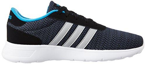 adidas Lite Racer, Chaussures de Sport Homme, Noir, EU Noir (noir essentiel / argenté mat / bleu solaire)