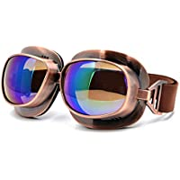 BJ Global Vintage Scooter Motocross Goggle Glasses Motorcycle Cycling Goggles Cruiser Steampunk ATV Bicycle Eyewear Glasses