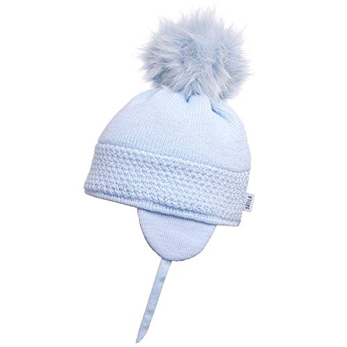 d1c6babf60a Satila of Sweden Baby Blue  Daisy  Faux Fur Pom-Pom Hat ...