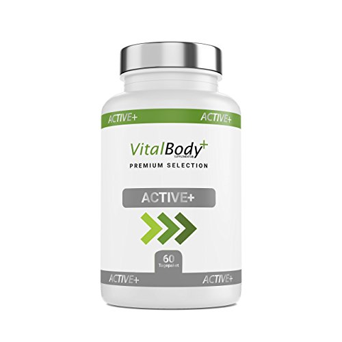 ACTIVE+ 60 effektive Diät-Kapseln zum schnell Abnehmen für Männer& Frauen – natürlicher Fatburner Fettverbrenner – Guarana, Grüntee Extrakt, Bitterorangenextrakt & Koffein- Deutsche Apotheken Qualität